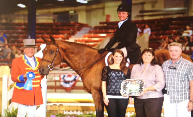 Jennifer Gurney, of Cazenovia, claimed first place in the Christy Nealer Memorial Hunter Classic. Her daughter, Ava, not pictured, claimed second place.