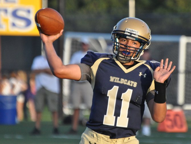 West Genesee sophomore quarterback Dashon Turner (10) made an electrifying starting debut in Friday night's 62-21 victory over Central Square, throwing for 232 yards and four first-half touchdowns, including strikes of 57 and 56 yards to Colin BeVard, while substituting for injured starter Bailey Gauthier.