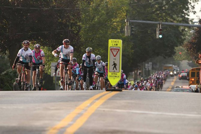 Cyclists en route in last year's Syracuse Ride for Missing Children.