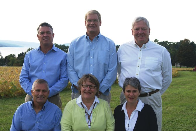 The Skaneateles Republican candidates for town office. Top row from left: Steve McGlynn, Jim Greenfield, Rick Keyes. Bottom row from left: Allan Wellington, Janet Aaron, Lori Milne.