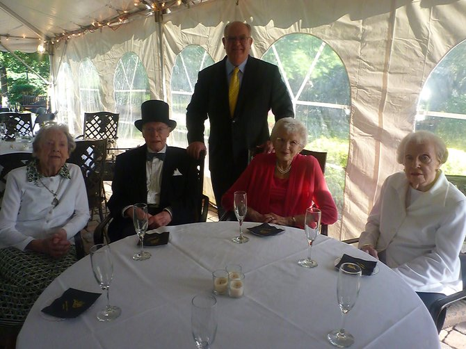 """Janet and Arthur Hengerer, Adelaide Muhlfelder and Dorothy Storms are the four remaining """"charter members"""" of Beverwyck-The Eddy Retirement Community in Slingerlands. The facility celebrated its 20th anniversary this month with a week full of events from residents and their families."""
