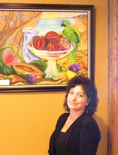 Lisa Torche Davis' artwork is on exhibit in Common Grounds through the month of October
