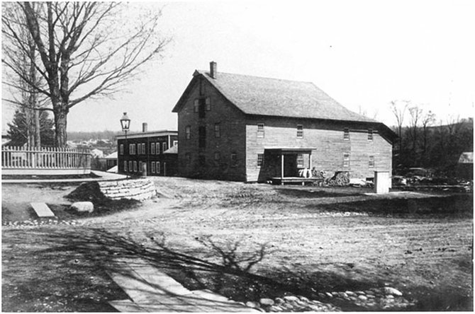 Parson's Mill, seen here in c. 1895, was located on the corner of Mill Street and Riverside Drive.
