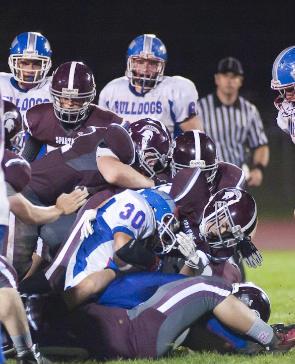 Burnt Hills Ballston Lake jumped out to a 60-6 halftime lead against South Glens Falls on Oct; 4. The Spartans won the contest 60-14.