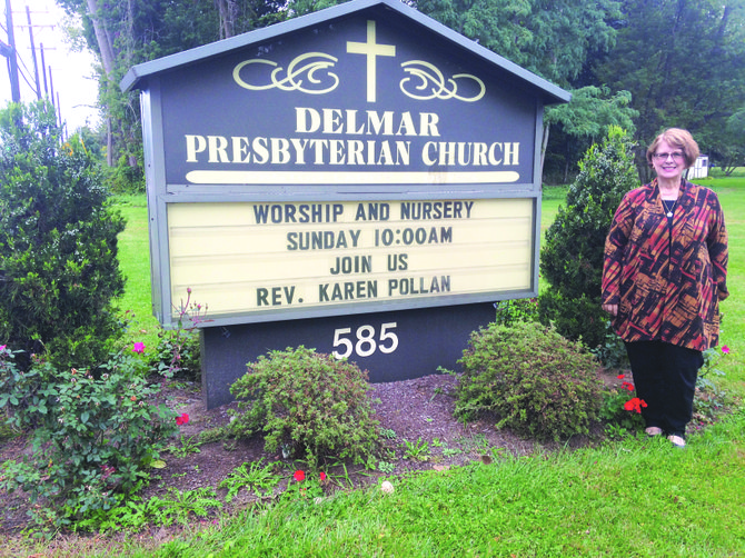 The Rev. Karen Pollan has become only the third pastor in Delmar Presbyterian Church's 57 years.