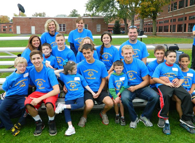 The Cazenovia CSD Special Olympics athletes, coaches and assistants