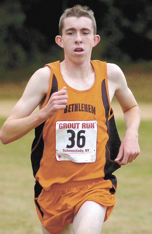 Bethlehem's Stephen Booker won his second Grout Run title Oct. 5 at Schenectady's Central Park.