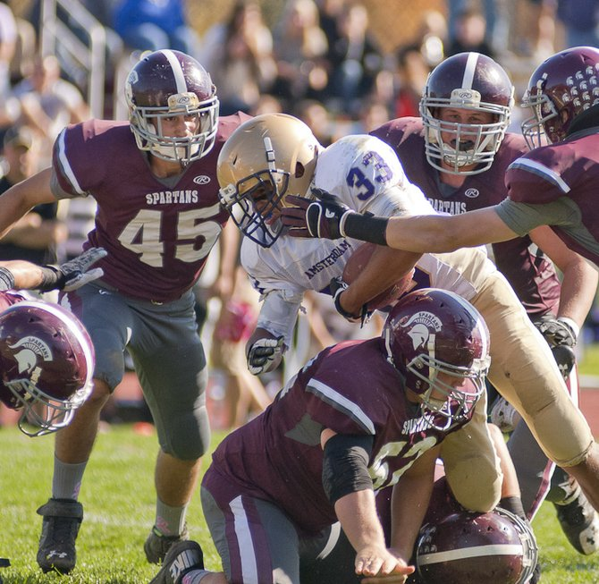 The Spartans continued their winning ways with a 49-0 win against Amsterdam on Oct. 14.