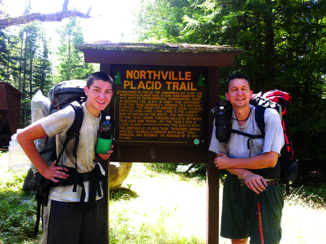 Baldwinsville father/son team Chris and Will Getman hiked the Northville-Lake Placid Trail.