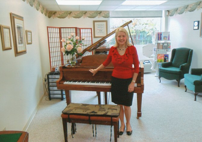 Marlene Stenuf inside her newly opened music studio on Fennell Street in Skaneateles.