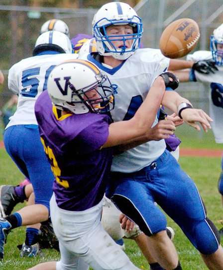 The Voorheesville football team clinched a playoff berth by beating Coxsackie-Athens 14-6 on Saturday, Oct. 19, in a Class C South Division game.