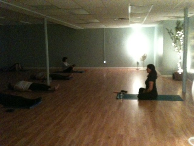 Sybil Gouchie instructs students in a yoga class at Willow Health and Wellness Center.