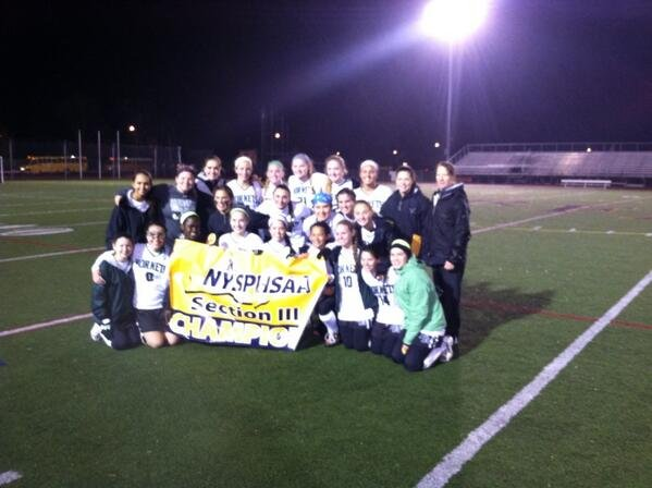 Fayetteville-Manlius' field hockey team celebrates its first Section III Class A championship in 24 years, earned last Saturday night with a 1-0 victory over Cicero-North Syracuse at Rome Free Academy Stadium as Gabriella Gorgoni got the game's lone goal early in the first half.