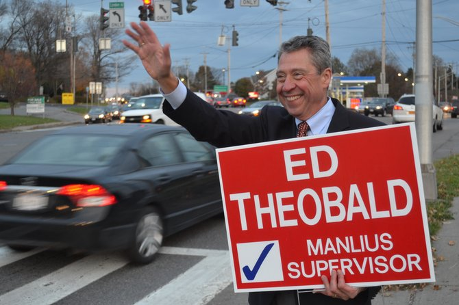 Incumbent Ed Theobald beat Mark Tetley for the town supervisor position on Nov. 5. He'll be starting his third term as supervisor in Jan. 2014