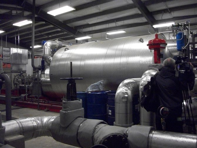 Albany County Sewer District and state officials on Wednesday, Oct. 30, unveiled a new multi-stage combined heat and power system at the county's North Plant in Menands.