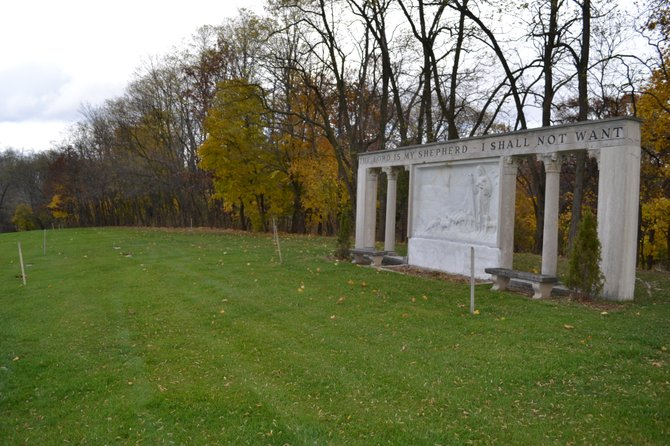 Memory Gardens sits on a ridge that is one of the highest points in the town of Colonie and is the final resting place of approximately 36,000 people. The tree line separates the cemetery from the proposed sports complex.