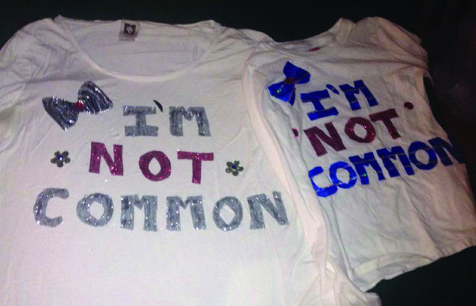 Tiffany MacRae, of Jordan, made these shirts for her children to wear on Nov. 18. She got the idea from a Facebook friend who had designed the shirts for her kids, and liked the idea for her daughters.
