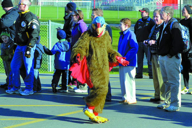 The Turkey Day Race will start at 10 a.m. at C.W. Baker High School on Thanksgiving.