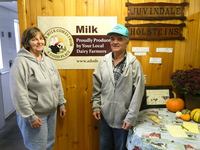 Juliet and Vincent Wagner, owners of Ju-Vindale Holsteins, now sell fresh, raw ilk at their farm on Ballina Road for $4 per gallon.