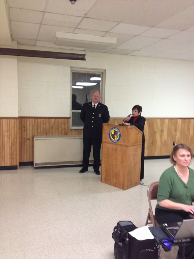 Longtime deputy EMS chief Peter Berry's promotion to chief was announced at the Thursday, Dec. 19, Colonie Town Board meeting.