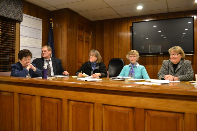 The new Skaneateles town board held its first meeting on Jan. 2. From left: Councilor Nancy Murray, Councilor Jim Greenfield, Councilor Connie Brace, Supervisor Mary Sennett, Clerk Janet Aaron. Not pictured: Attorney Tom Taylor and Councilor Claire Robinson Howard.