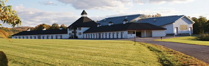 The Cazenovia College Equine Education Center, located on 243 acres of college-owned property off Woodfield Road in Cazenovia, boasts a laboratory for the Equine Business Management academic program as well as home site of the college riding teams.