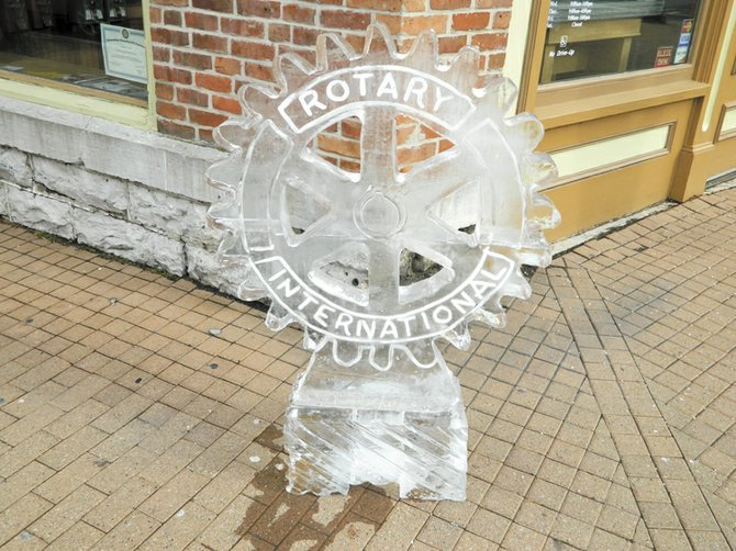Skaneateles Winterfest features an ice walk with sculptures around the village done by Stan Kolonko.