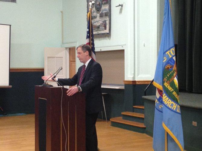 Bethlehem Supervisor John Clarkson gives his third State of the Town address on Thursday, Jan. 22 at Bethlehem Town Hall.