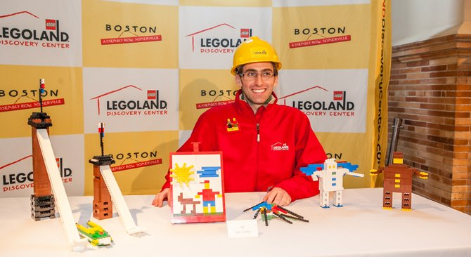 Slingerlands resident Ian Coffey bested nearly 100 people in a two-day Lego building competition. Coffey's Lego skills won him a job as master model builder at the Boston Legoland Discovery Center.