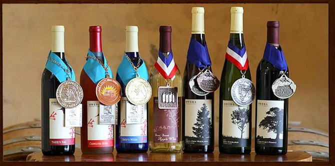 Owera Vineyards' Frontenac Gris and Chardonnay recently won silver medals in the SFC Wine Competition.