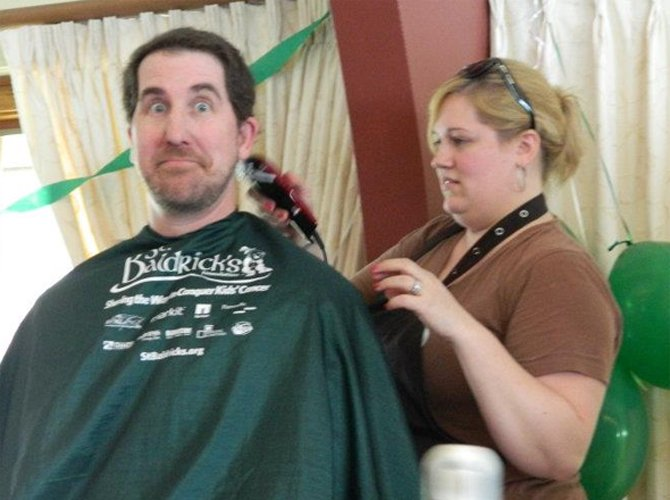 Cazenovia Republican editor Jason Emerson got his head shaved two years ago at the St. Baldrick's event in Skaneateles and this year will do it again in Cazenovia. And he may shave his beard too.