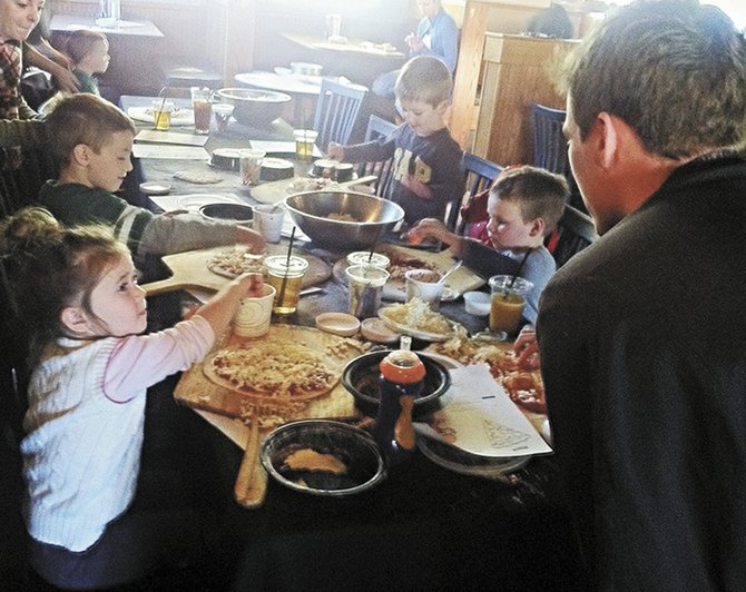 At Mangia in Slingerlands, kids can create their own pizzas at two special events in March.