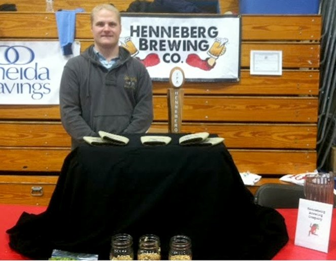 John Henneberg offered his beer at the 2014 Chilly Chili race.