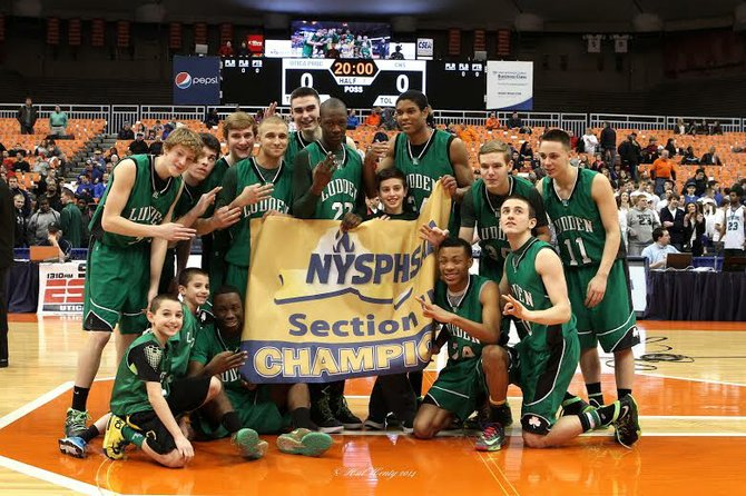 Bishop Ludden's boys basketball team earned its third consecutive Section III championship Saturday night at the Carrier Dome, the Gaelic Knights putting away Jamesville-DeWitt 76-49 as it hit on seven 3-pointers in the first quarter and did not get caught.
