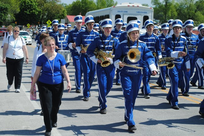 The Vergennes Union High School Commodore Parent-Teacher Group will be holding its annual Trinkets and Treasures Rummage Sale at VUHS on Saturday, April 5, 8 a.m.-2 p,m., in the middle school gym.  Pictured: VUHS Marching Band.