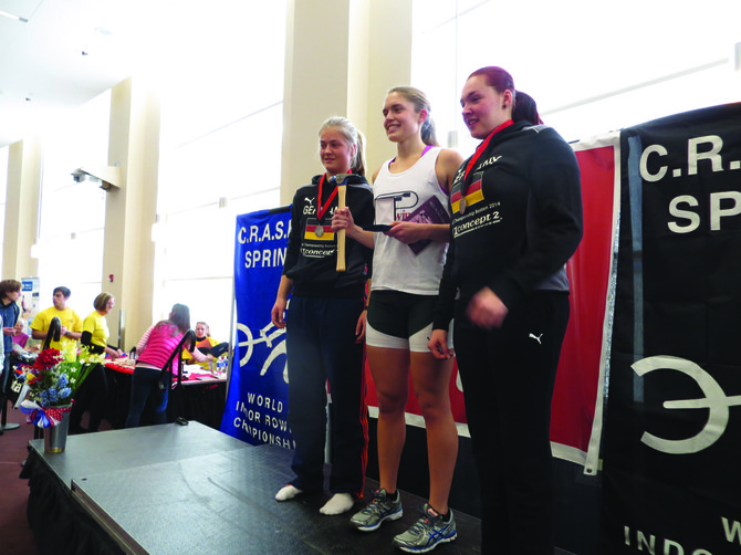 F-M rower Dana Moffat beat out 238 of the best athletes from around the world to win her second consecutive C.R.A.S.H-B. World Indoor Rowing Championship on Feb. 16. Moffat is likely the fastest female rower under 18 in the country.