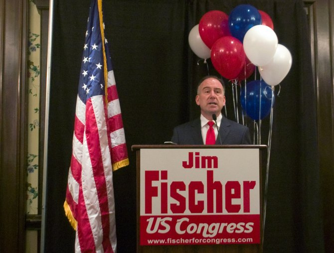 Republican Jim Fischer formally announces his bid against Democrat incumbent Paul Tonko for the 20th Congressional District on Tuesday, March 11.