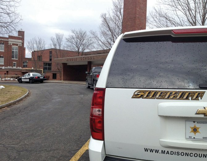 Cazenovia Police Department and Madison County Sheriff's Department responded to Cazenovia High School last Friday in response to two .22 caliber bullets being found in a second-floor hallway. K9 units from Utica police and Syracuse City police were called in to do a room-to-room and locker search for weapons or ammunition, and found neither.