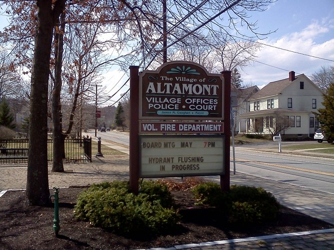 Town Hall in the Village of Altamont.