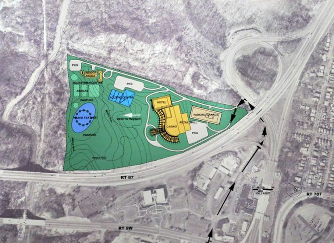 An artist's rendering shows the siting of the proposed casino.