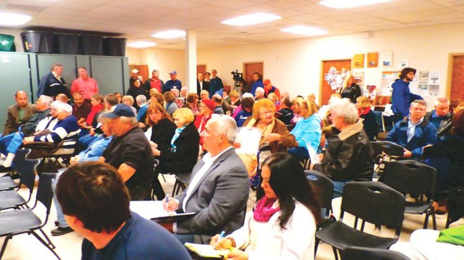 The informational meeting held April 23 attracted about 75 residents living on or around Doyle Road in Lysander.
