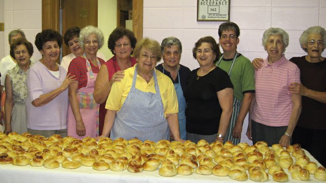 St. Peter Women's Guild members make cheoreg, which is sweet, egg-enriched bread. The women of the guild are known throughout the diocese for their cooking and baking.