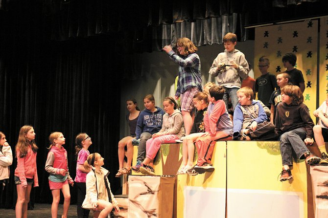 """Fifth-graders recently started rehearsing on Lydia C. Tobler Performing Arts Center stage for their upcoming production of """"Peter Pan Jr."""""""