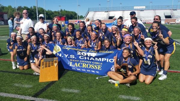 West Genesee's girls lacrosse team brought home its seventh state Class A championship when it beat West Islip 15-10 in Saturday's state final at SUNY-Cortland. It's the Wildcats' second state title in three years, and followed a triple-overtime state semifinal win over Pittsford.