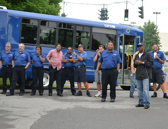 CDTA drivers made their way through obstacles as part of the 29th annual Bus Roadeo Tuesday, June 10.
