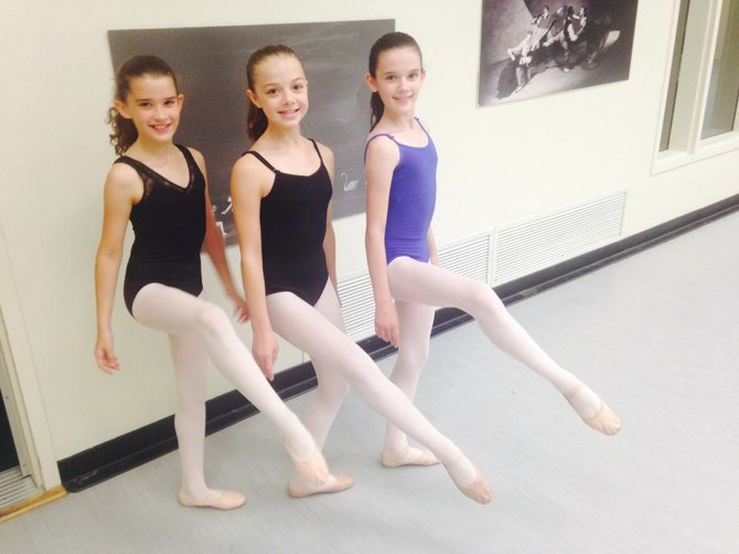 """From left, Riley McGee of Niskayuna, Ellie Whiteman of Slingerlands and Emily Rennells of Colonie were selected as understudies in this year's New York City Ballet performance of """"Circus Pollka."""""""