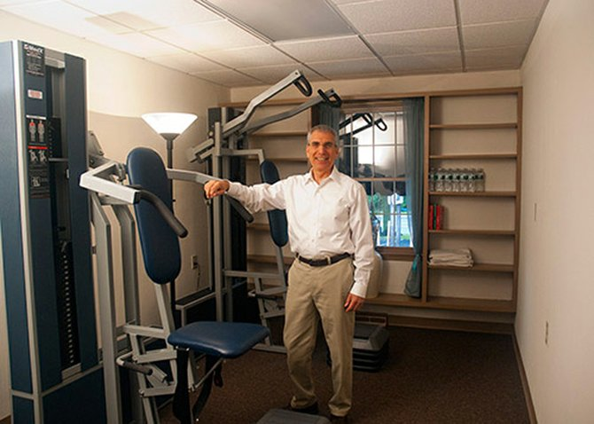 Rick Berman provides clients with a private one-on-one personal training environment.