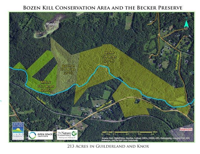 Map courtesy of Mohawk Hudson Land Conservancy