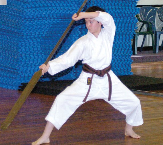 Nine-year-old Pierce Leonardi is a six-time AAU national karate champion.
