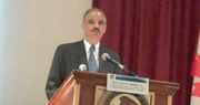 United States Attorney General Eric Holder spoke about border security at a law enforcement summit held at the Crown Plaza in Lake Placid, NY on Sept. 14.